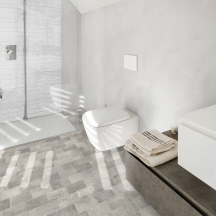 Betonbrick Floor Bathroom