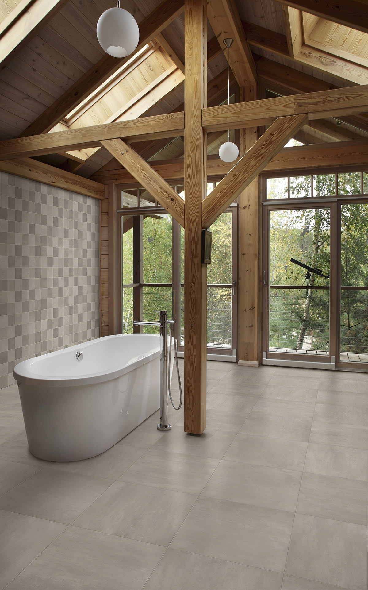 Betongreys terratinta ceramiche for Warm bathroom